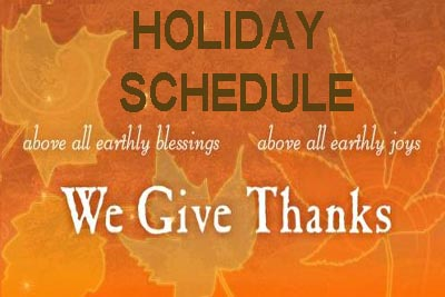 Thanksgiving week services