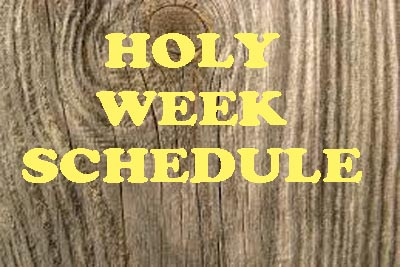 HOLY WEEK SERVICES